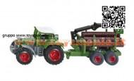 siku 1645 Fendt Favorit 926 Tractor con imorchio trasporto tronchi