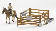 BRUDER bworld personaggio, cavallo con accessori [cod 62500]