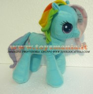 PELUCHE MY LITTLE PONY Rainbow Dash PELUCHE MIO MINI PONI AZZURRO RAINBOW DASH ORIGINALE  DI CIRCA 32 CM