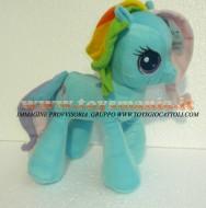 PELUCHE MY LITTLE PONY Rainbow Dash PELUCHE MIO MINI PONI AZZURRO RAINBOW DASH ORIGINALE  DI CIRCA 32 CM