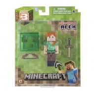 Minecraft 3 pollici Alex Figura con accessori NCR16560