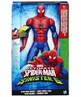 spiderman hero  marvel ultimate spider man vs sinister 6 hasbro b5757 personaggio elettronico 2016 parlante da 30 cm spiderman