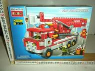 GIOCATTOLO DI ODS : COSTRUZIONI TIPO LEGO CAMION ROSSO DEI VIGILI DEL FUOCO CON 208 PEZZI E TRE PERSONAGGI INCLUSI !!! COD. C
