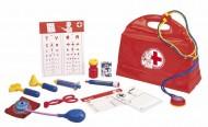 Simba 105545506 - Valigetta del dottore, 13 pezzi, colore: Rosso COME QUELLO DI UNA VOLTA