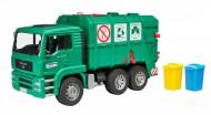 Camion Trasporto Rifiuti Man Tga Verde Bruder 02753