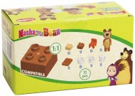 Masha and the Bear personaggio orso - Set Mattoncini 70909
