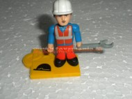 PERSONAGGIO OMINI O-MINI PERSONAGGIO MARIO ,GIOCATTOLO COMPATIBILE CON LEGO COD 404010