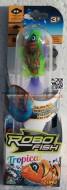 ROBO FISH TROPICAL , ROBOFISH TROPICAL CON COLORI TROPICALI SIMULA IL MOVIMENTO DI UN PESCE VERO MODELLOVERDE ARANCIO COD NCR 02239