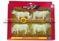 BRITAINS ACCESSORI PER MODELLISMO AGRICOLO ANIMALI SET BOVINI CHAROLAIS  SCALA 1/32 COD 40962