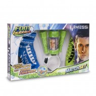 Foot Bubble Bolle di Sapone Messi Match Set - pallone magico con calza speciale Messi