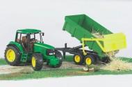 Bruder Trattore John Deere 6920 con rimorchio verde e giallo [ cod 02058 ]