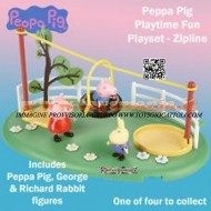 Peppa Pig Playground Playset Zip line Peppa Pig & George Figures - Brand New IL PARCO DIVERTIMENTO CON LA FUNE