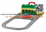 Trenino Thomas: Take n Play Set: Tidmouth Sheds Playset Fisher Price R9113 - Deposito di Tidmouth
