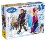 Frozen Puzzle Doppia Faccia Supermaxi, 35 Pezzi di Lisciani 46867