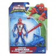 Marvel - Ultimate Spider-Man vs Sinister 6 - Spider-Man con Armatura 15 cm + Lanciarazzi e Proiettile B5876-B5758