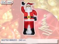 Babbo Natale gonfiabile a corrente 220 volt - altezza 240 cm - prezzo 1 pezzo