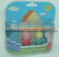 PEPPA PIG BLISTER 2 PERSONAGGI FORMATO DA PEPPA PIG E REBESSA RABBIT , REBECCA CONIGLIO COD 04430