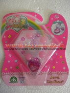 !!! JEWELPET !!!!! JEWEL LIP GLOSS !!!! BRACCIALETTO COLORE ,ROSA CON PERSONAGGIO  KING CON JEWELPET E 1 LIP GLOSS COD 12243