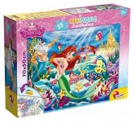 Lisciani Giochi 48236 - SIRENETTA puzzle Doppia Faccia -  puzzle in un lato e colorabile nell'altro lato - Supermaxi, 60 Pezzi