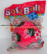 Palla di spugna pallone di spugna giocattolo in color rossa