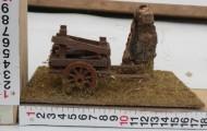 Millenium Christmas presepe ambientazione con carretto/carro contadino con legna