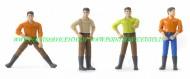 Bruder bworld personaggio omini  Dark Man con gli stivali serie formata da 4 omini  [cod 60011]