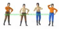 Bruder Bworld personaggio Donna omini con stivali scuri offerta 4 omini personaggi [cod 60402 ]