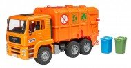 Camion Trasporto Rifiuti Arancione  Man Tga Bruder 02760