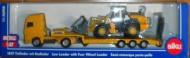 Siku  modellino Camion trasporta ruspa SIKU 1839 SCALA: 1/87 TIPO: MAN CON PALA GOMMATA LIEBHER R580
