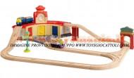 Chuggington TRENINO : SET TRINEE ROUNDHOUSE CHUGGINGTON WOOD COD LC56703 PREZZO MIGLIORE GIOCHI , toys , BRINQUEDOS ,JUGUETES , JOUETS , giocattolo