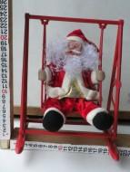 Tobia's Babbo Natale dondolante sull'altalena  funzionante a pila