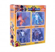 IMC Toys 30503 - Invizimals Pack 4 Figure Articolate Tigershark/Icelion/Uberjackal/Vortex