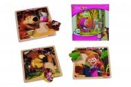 SIMBA Masha e l'orso Masha puzzle 8 pz in legno cm.20x20 prezzo 1 pezzo