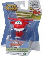 Giochi Preziosi - SUPER WINGS  Jett, Aereo Robot Personaggio Trasformabile Articolato, Alto 5 Cm