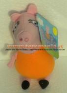 PELUCHE PEPPA PIG PERSONAGGIO MAMMA PIG ALTEZZA CIRCA 15CM ORIGINALI