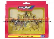BRITAINS ACCESSORI PER MODELLISMO AGRICOLO ANIMALI SET CAVALLO CON FANTINO  SCALA 1/32 COD 40956