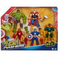 Marvel - Super Hero Mashers Multipack - set formato da CAPITAN AMERICA - IRON MAN - THOR - HULK - MAEVEL'S VISION  1971 EU40