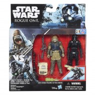 Star Wars Rogue One Imperial Death Trooper & Rebel Commando Pao Deluxe B7259-B7073 di Hasbro