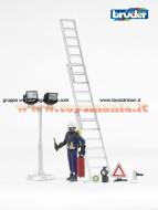 Bruder 62700 Pompiere con accessori, scala e lampade scala 1/16 [ cod 62700 ]