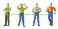 Bruder bworld personaggio Man bruna con gli stivali set formato da 4 personaggi  [cod 60010 ]