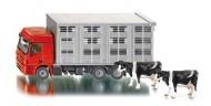 Siku modellino camion Mercedes Benz Actros trasporto bestiame trasporta mucche con 2 mucche incluse cod 2713