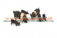 BRITAINS ACCESSORI PER MODELLISMO AGRICOLO ANIMALI SET MAIALI  SCALA 1/32 COD 40965