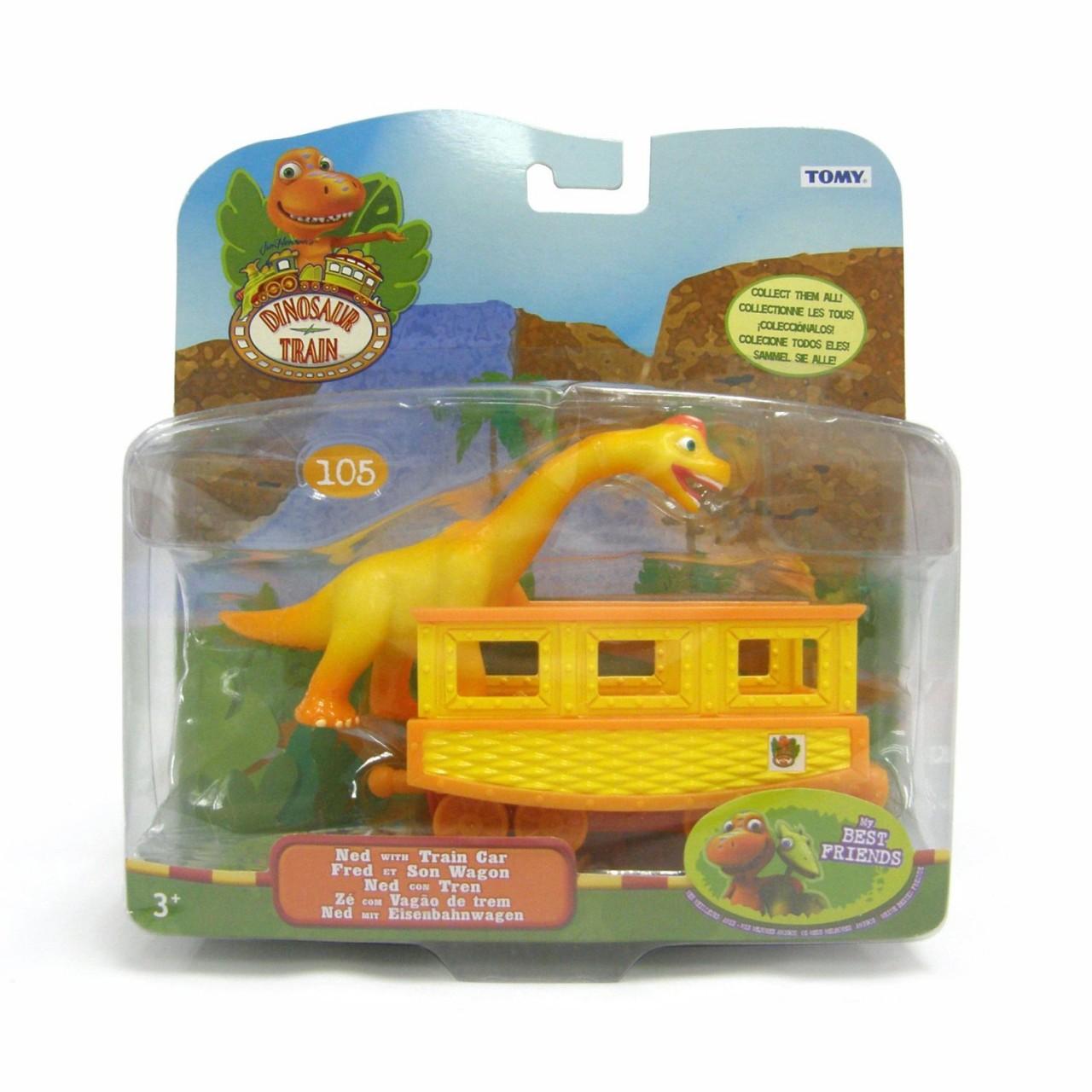 TOMY Dinosauro Treno Tiny con Vagone NUOVO