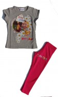 MASHA E ORSO maglietta e pantalincini Completo bambina anni 5 Gr.melange/Fuxia