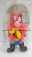 Peluche del personaggio yosemite sam dei looney tunes , YOSEMITE SAM COWBOY WARNER BROS BEANIE BAG TOY ,soft toy cm 30 circa