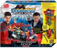 NUOVO BeyBlade - Shogun Steel Beywarriors Battle Set Octagon -completo di arena e 2 personaggi - dimensioni 38,1 x 10,8 x 36,8 cm