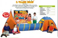 SIAMO UN RIFERIMENTO  Tenda Igloo ,Tenda Indiana unite con tunnel , cod. 80715