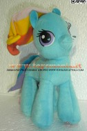 MY LITTLE PONY PELUCHE , PUPAZZO RAINBOW DASH 20 CM CIRCA !!
