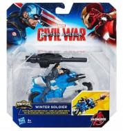 Playset Winter Soldier con moto da combattimento Hasbro B6769- B5769