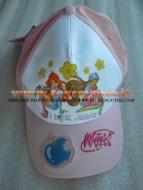 Cappello con visiera color rosa per bambini con personaggio Winx taglia 54